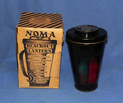 Vintage Wwii Era Noma Blackout Lantern - Camp , Boat Emergency Signal