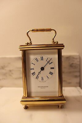 Vintage Taylor & Bligh London Brass Carriage Mantel Lantern Clock