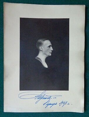 Antique Signed Photo of Grand Duke Gabriel Romanov of Imperial Russia 1947