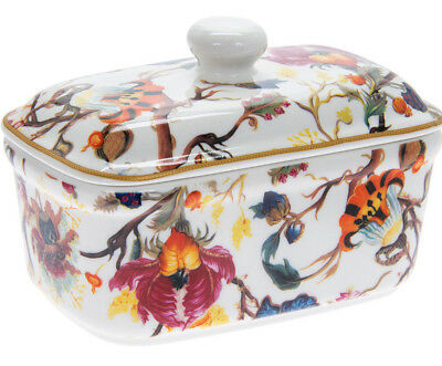 Anthina Floral Design China Butter Dish With Lid Ceramic Dining Table Home Gift