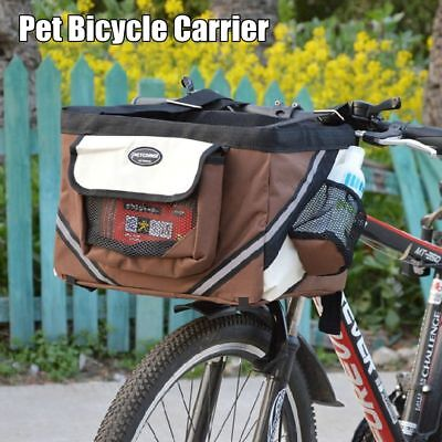 Bicycle Bike Front Box Carrier Basket For Pet Dog Doggie Cat Outdoor Travel