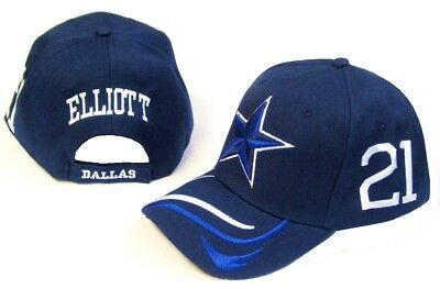 7c4c97f7d Dallas City Blue Hat Cap 21 Ezekiel Elliott Embroidered Cowboys Star Name  Number
