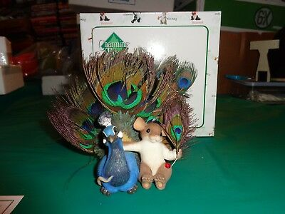 "Charming Tales ""Proud as a Peacock of You"" Mouse Figurine New in Box"