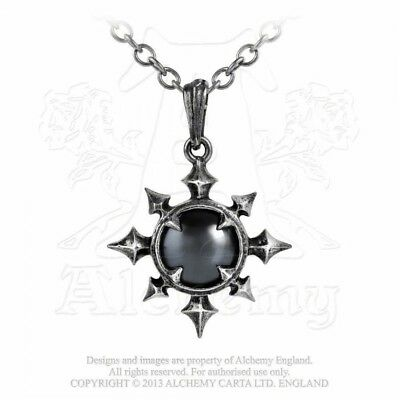 ALCHEMY ENGLAND Gothic Steampunk Chaos Pewter Cabochon Pendant NECKLACE Chaosium