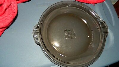 Pyrex Visions Amber Pie Baking Dish 7 Inch Size Number 207 Vhtf Free Usa Ship