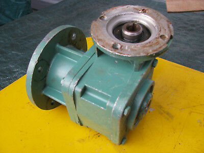 "LEROY SOMER 30:1 MVA SPEED REDUCER Right Angle Gear / 5/8"" Hollow Shaft GEARBOX"