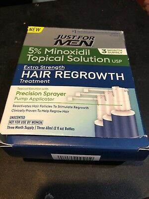 Just For Men Hair Regrowth Treatment, 3 Month Supply, 6 Fluid Ounce..A43
