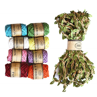 the GreatTony Raffia Ribbon Craft Paper Labels for Wedding Party Gift...