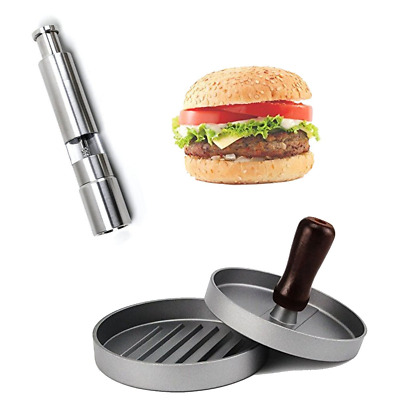 XX&GUO Burger Press,Salt and Pepper Mills Grinders,Non Stick Mould,...