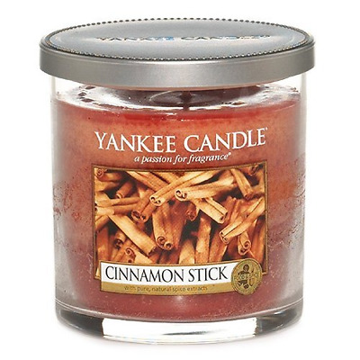 """Yankee Candle """"Cinnamon Stick"""" Pillar Candle, Red, Small"""
