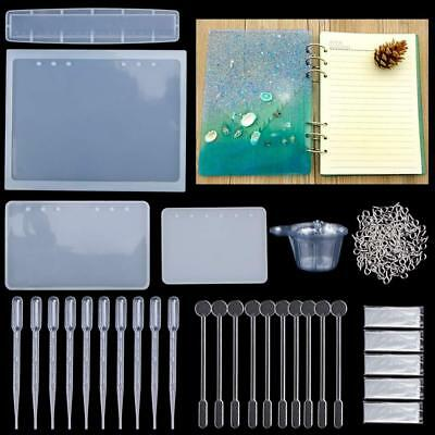 Resin Casting Molds, 144 Pcs Mold Tools Kit,4 Silicone Notebook Ruler...