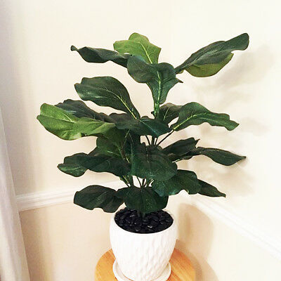"""27"""" Fiddle Leaf Fig Tree Artificial Plant 3 Stems Indoor Silk Flowers Office"""