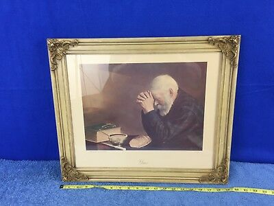 Eric Enstrom Grace Old Man Praying Religious Daily Bread Picture Framed