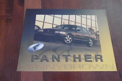 2001 Ford Crown Victoria Panther Kenny Brown Brochure Spec Sheet Card