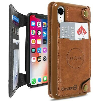 CoverON Scout Series Apple iPhone XR / 10R Wallet Case Vegan Leather Phone Cover