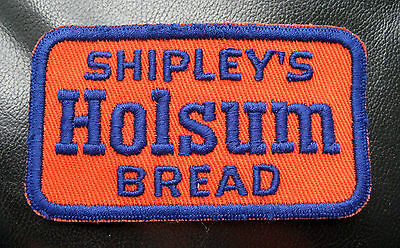 "SHIPLEYS HOLSUM BREAD EMBROIDERED SEW ON ONLY PATCH BAKING COMPANY 3 1/2"" x 2"""