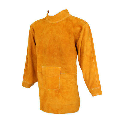 85cm Yellow Leather Welding Coat Apron Protective Clothes Apparel for Welder