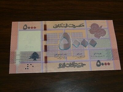 Lebanon 2012 5000 Livres Currency Note Choice Cu 2424J