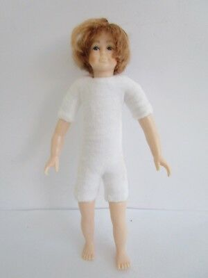 1:12 scale undressed dollhouse 4.75 inch teen boy doll - red hair & blue eyes