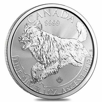 2018 Silver Canadian Wolf Predator Series 1 oz Brilliant Uncirculated $5 Coin BU
