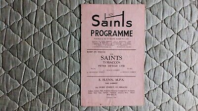 St Helens V Widnes Rugby League Match Programme April 1954