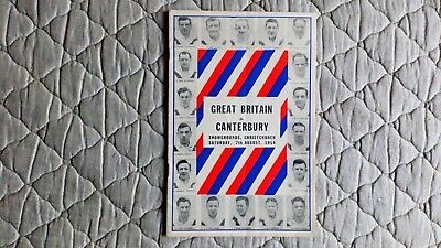 Canterbury V Great Britain Rugby League Match Programme 1954