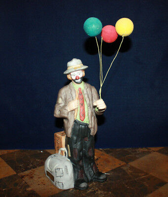 Rare Emmit Kelly Clown Figure Statue Music Box Flambro Numbered Limited Edition