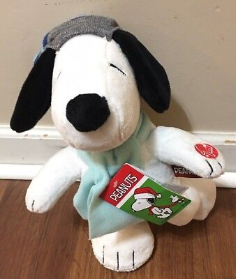 Peanuts Skating Snoopy Plush Christmas Collectible