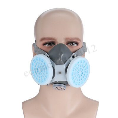 Anti Dust Respirator 2 Gas Mask Filter Twin Chemical Spray Paint Safety