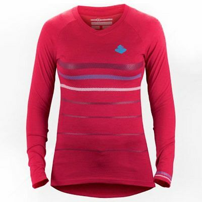 3927ea8f1 Sweet Protection Badlands Women s Merino Long Sleeve MTB Jersey Rubus Red  Large