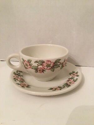 1940's Grindley Hotel Ware Apple Blossom China Cup and Saucer