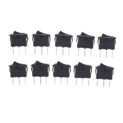 10PCS KCD11 3A/250V 3 Pin SPDT ON-OFF-ON 3 Position Snap Rocker Switch Jl