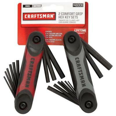 Craftsman 2 Piece Dual Material Folding Hex Key Set (46001/46002)