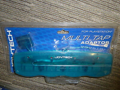 SONY PLAYSTATION 1 PS1 PSOne 4 PLAYER MULTITAP MULTI TAP ADAPTER Blue BRAND NEW!