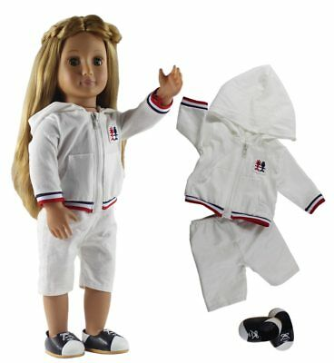 3In1 Set Doll Clothes Top+Pants+One Pairs Shoes For American Girl Fashion Casual