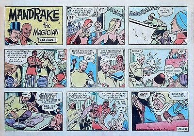 Mandrake the Magician by Lee Falk - large half-page Sunday comic, April 30, 1972