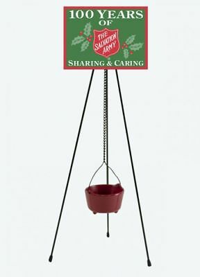 """Byers Choice New Salvation Army Kettle Stand & Sign14"""" Accessory Mint Brand New"""
