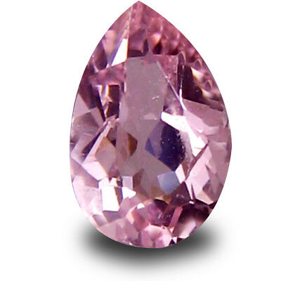 0.32 ct Wonderful Pear Cut (6 x 4 mm) Brazilian Pink Morganite Loose Gemstone