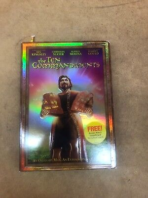 The Ten Commandments Dvd With Slipcover Ben Kingsley Christian Slater