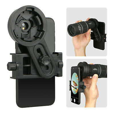 Cell Phone Telescope Mount Adapter 26.4-46.4mm Binoculars Spotting Scope Holder