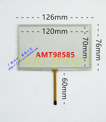 New for 5-inch 4-wire AMT98585 four-wire resistive 126*76 touch glass