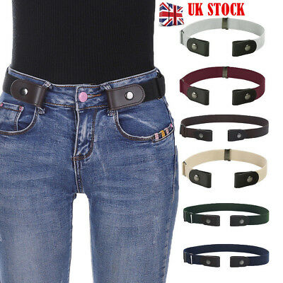 Womens Buckle-Free Elastic Belts Invisible Belt Waist for Jeans No Bulge Hassle
