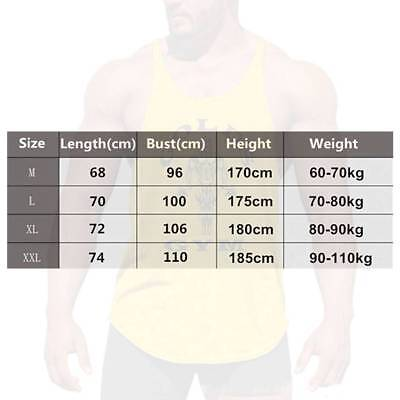 Gym Mens Vest Muscle Joe Stringer Tank Top Bodybuilding Fitness Singlet