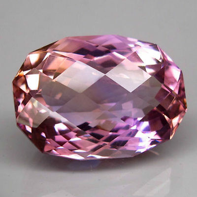 18.7ct.Delightful Gem! 100%Natural Bi Color Ametrine Unheated Bolivia AAA Nr!.