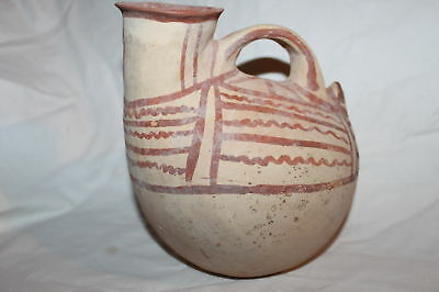 RARE ANCIENT GREEK POTTERY DAUNIAN ASKOS  6th CENTURY BC