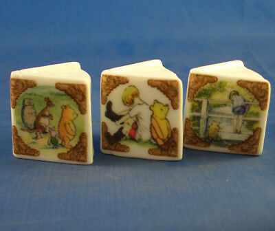 Fine China Thimbles - Set Of Three Miniature Book Style -  Winnie The Pooh
