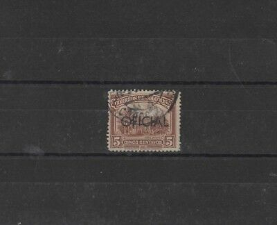 COLOMBIA ' OFFICIAL ' AS SG431 TYPE 138 5c BROWN, USED......