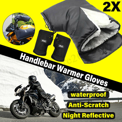 Motorcycle Scooter Bike Winter Cycling Gloves Handlebar Mittens Mitts 2 Sizes