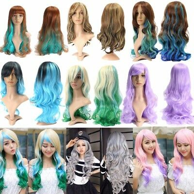 Fashion Long / Short Wavy Curly Hair Women Girl Cosplay Costume Party Full Wig