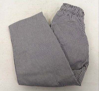 Chef Trousers Chefs Whites Gingham Black & White Check Pants | Small | C8/Gct1